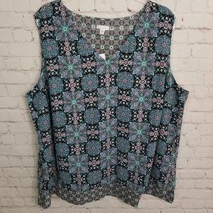 J Jill NWT sleeveless blouse size 3X